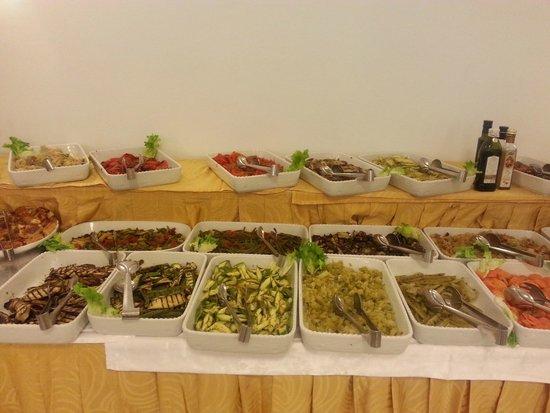 Aragona Palace Hotel: buffet di verdure