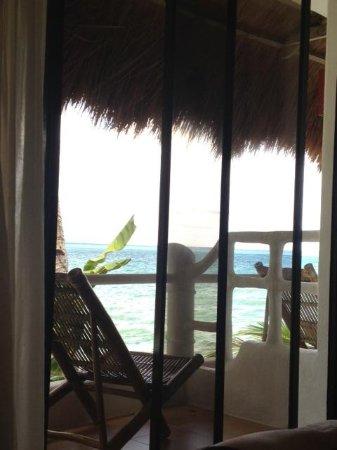 Artista Beach Villas: view from level 2 room nearest to recep