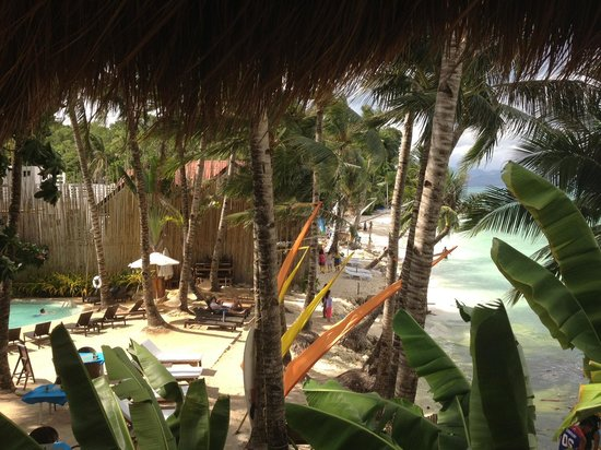 Artista Beach Villas: view from level 2 room nearest to recep - mama's fish house