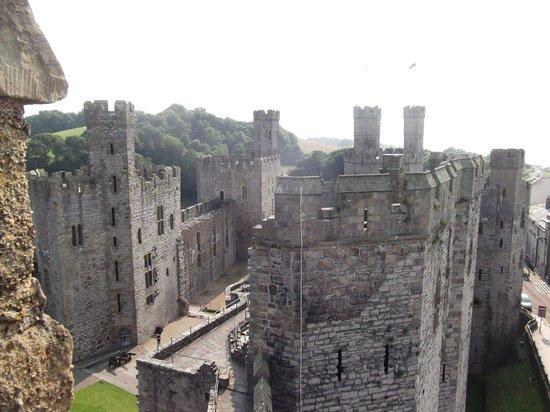 caernarfon castle fläche