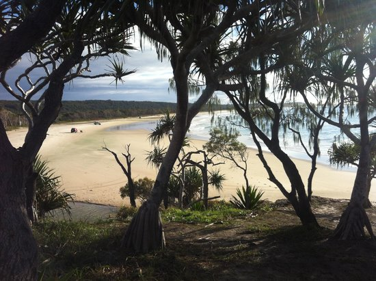 Straddie Camping: View from the rock.