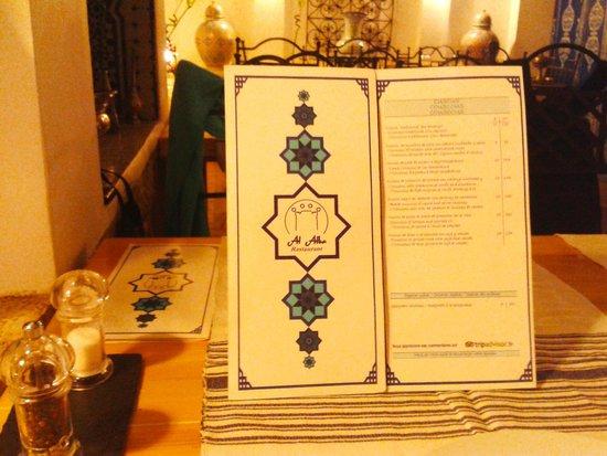 Restaurant Al Alba: Carta