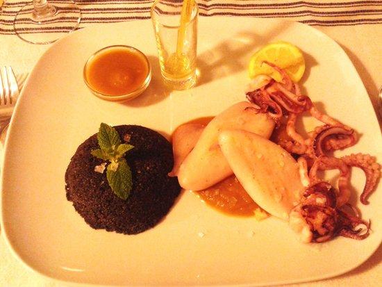Restaurant Al Alba: Cus cus negro de calamar