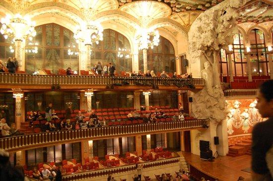 Palais de la Musique Catalane (Palau de la Musica Catalana) : Interior music hall