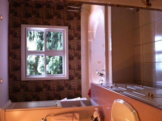Victoria Gables Bed & Breakfast: Rose room bathroom