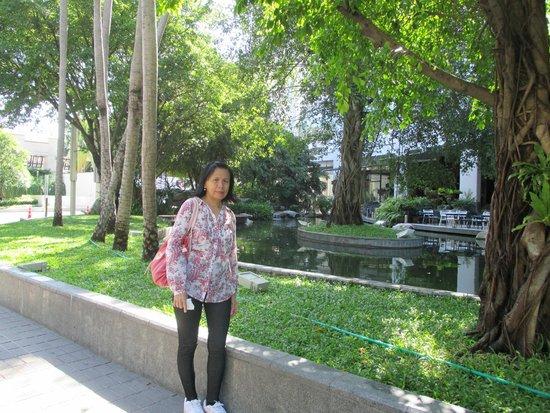 The Ecotel Bangkok: jalanan hijau dari central world plaza menuju Siam center