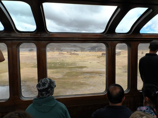 PeruRail Titicaca: Viewing carriage - side