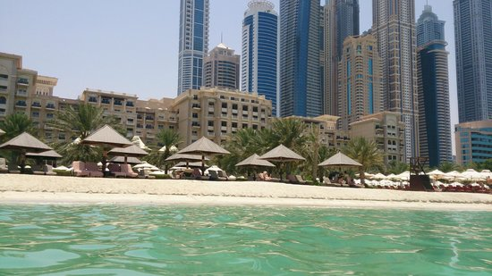 The Westin Dubai Mina Seyahi Beach Resort & Marina: View from the sea