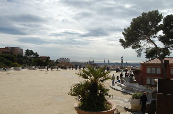 Park Guell: The fenced off Gaudi area