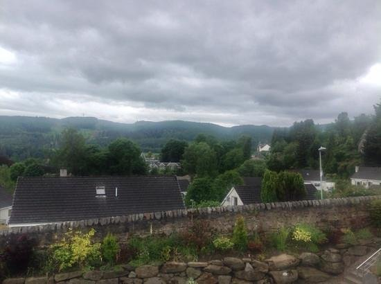 Craigmhor Lodge & Courtyard: view from our terrace