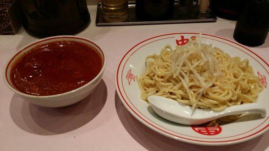 Moko Tanmen Nakamoto Shinjuku: 冷やし味噌の辛さ5倍