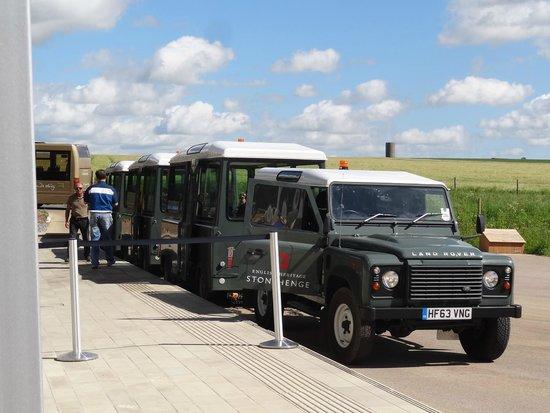 Stonehenge: Der Shuttle-Bus.