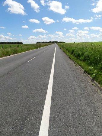Der Fussweg zum Stonehenge.