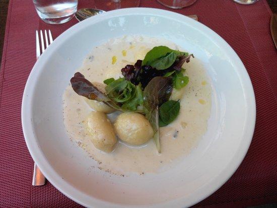 Les Aromates : gnocchis farcis au basilic