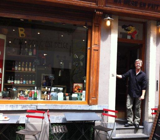 C'Est Bon C'Est Belge Le Cellier : Le patron très sympa