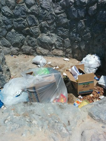Cove Rotana Resort Ras Al Khaimah: Garbage in between villas, nice touch