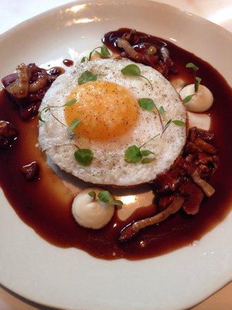 Medlar duck egg tart starter! Amazing!