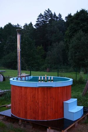 Milzkalne Guest House: Hot tub ready to use! :)