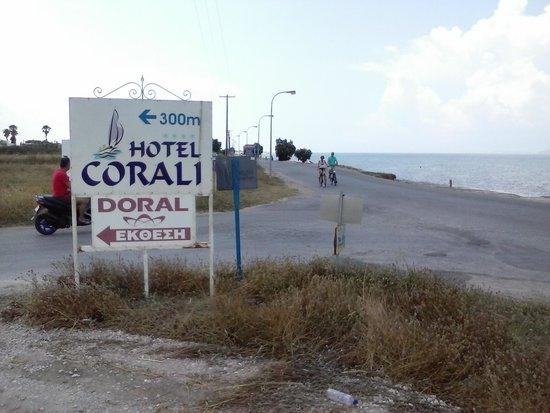 Hotel Corali : Panneau Coralia
