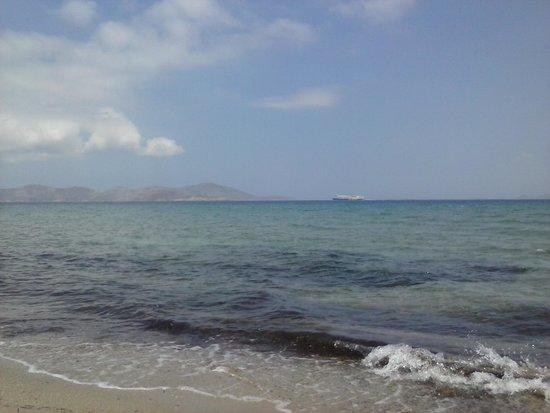 Hotel Corali : l'ile de Kalimnos vue de la plage