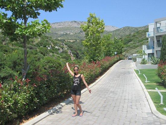TesoroBlu Hotel & Spa: View on hotel terrain