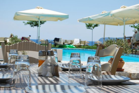 Castello Antico Beach Hotel: Restaurant - pool