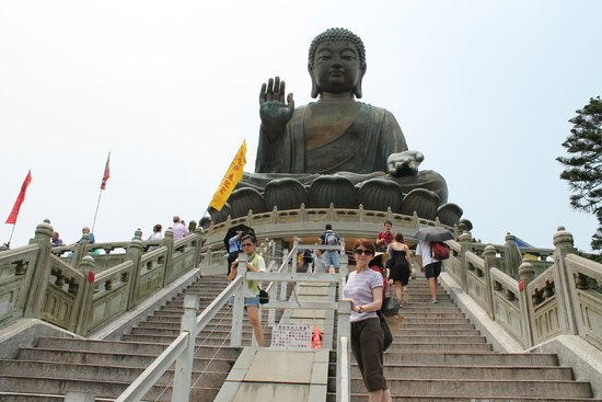 Grand Bouddha : Stairs to the statue