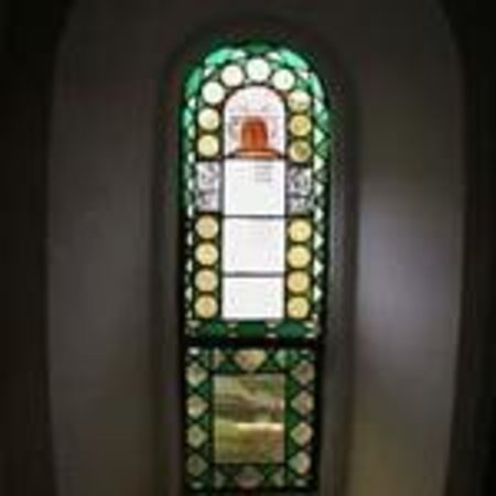 The Chelsea: Stained glass masonic window