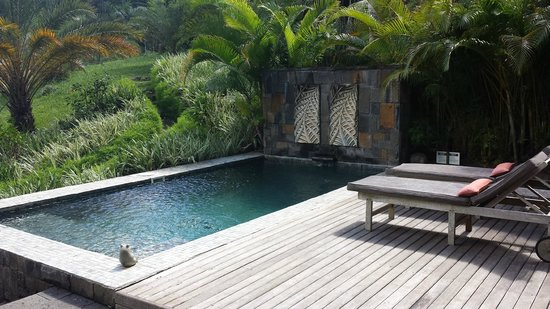 Lakaz Chamarel Exclusive Lodge: Private Pool area