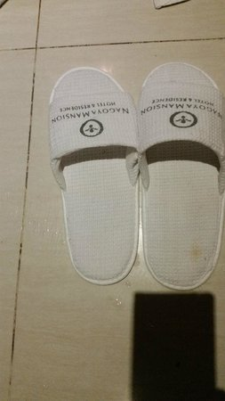 Nagoya Mansion Hotel & Residence : Recycled slippers with stains