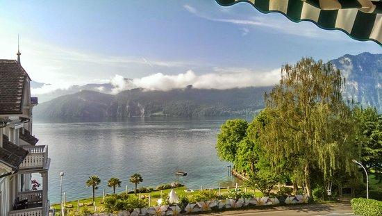 Park Weggis: Vue sur le lac des 4 cantons depuis la chambre