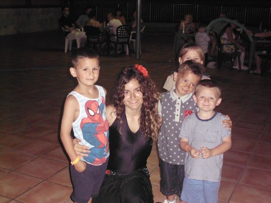Eurosalou Hotel : our last night, so sad : ( with friends and our entertainer, irene who rocco fell in love with