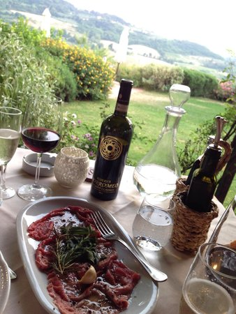 Relais Poggio Borgoni: Dinner in the restaurant