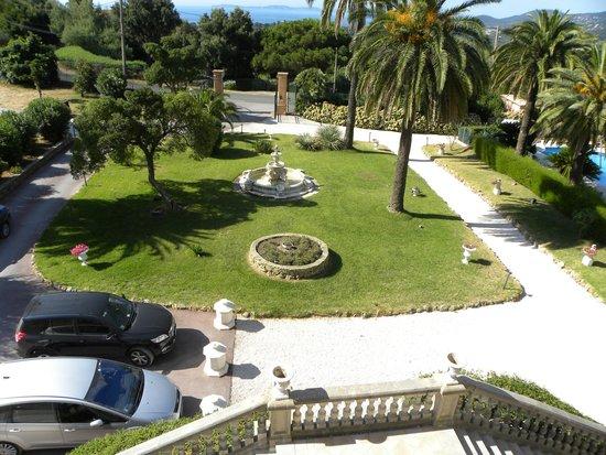 L 'Orangeraie Parc Hotel : il parco dalla finestra di camera