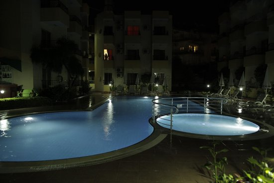 Hotel Summer Rose: Pool at night
