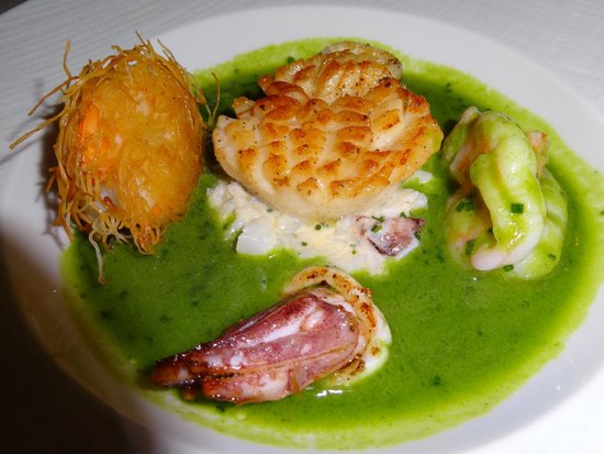Bouley: Scallop and Shrimp Appetizer