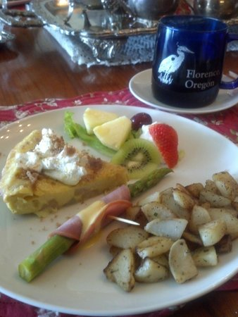 Blue Heron Inn : Incredible gourmet breakfasts