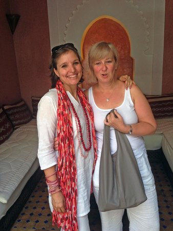 Riad le Clos des Arts: Giorgina with my wife Vanda