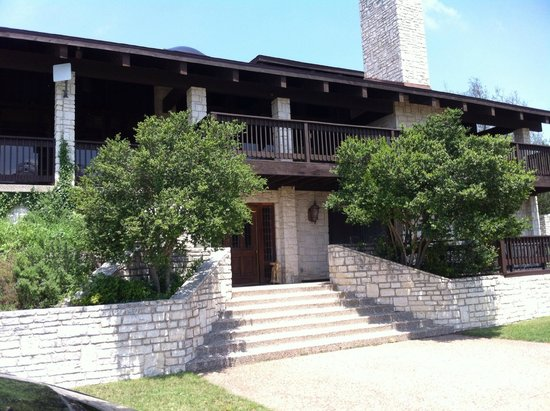 The Lodge at Fossil Rim: That 2nd floor deck is great to sit and watch the wildlife