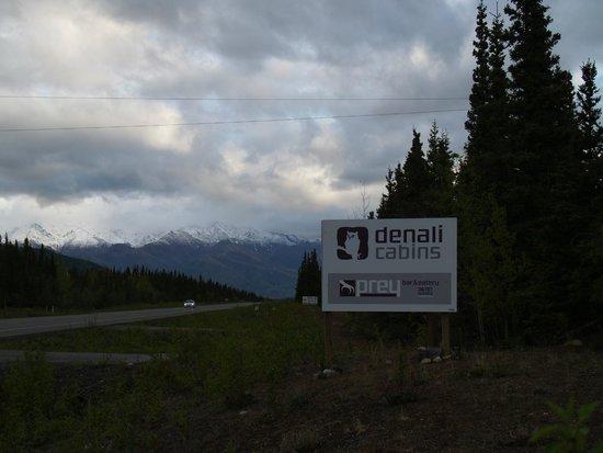 Denali Cabins: View from the road, heading Denali