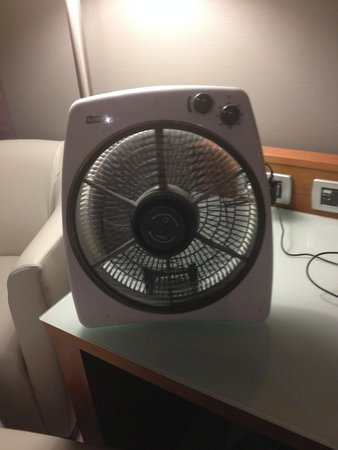 Italiana Hotels Florence: the electric fan the technician gave us.