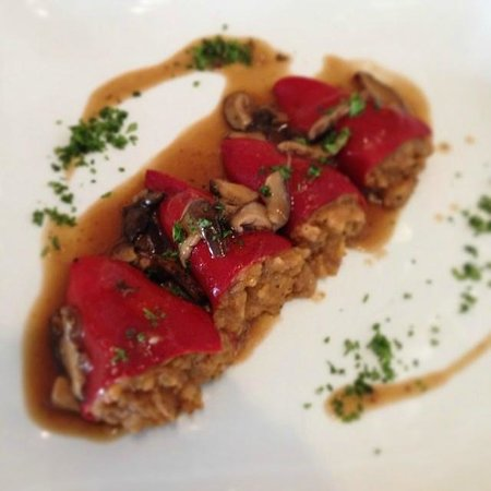 "Amici Bistro: Spanish ""Piquillo"" Peppers Stuffed with Beef and Truffle"