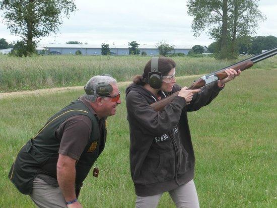 Pentlow, UK: Clay Pigeon Shooting at Explore 4x4