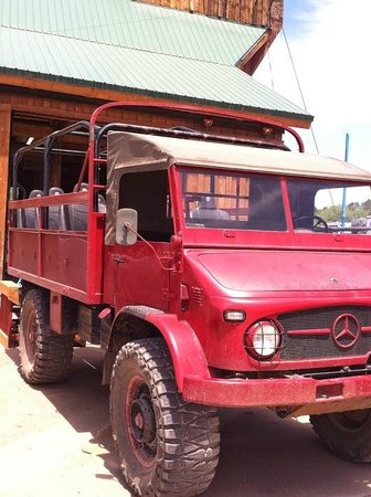 "Zion Ponderosa Ranch Resort: Mercedes truck used for ""Jeep"" Tour.  Love it!"