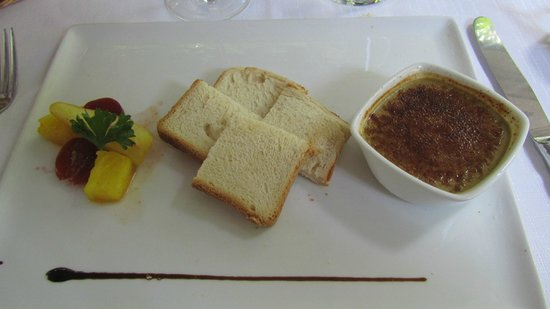 Ristorante Grotto Sant'Anna: first course of poultry foie