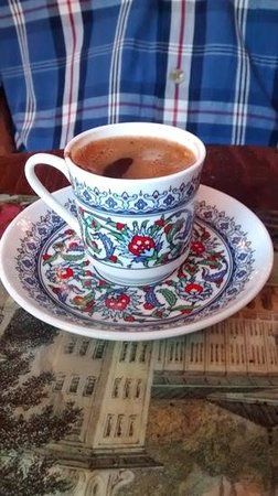 The Aubergine: wonderful Turkish coffee to finish the meal