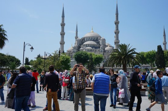 Historic Areas of Istanbul: Hanging by Blue Mosque