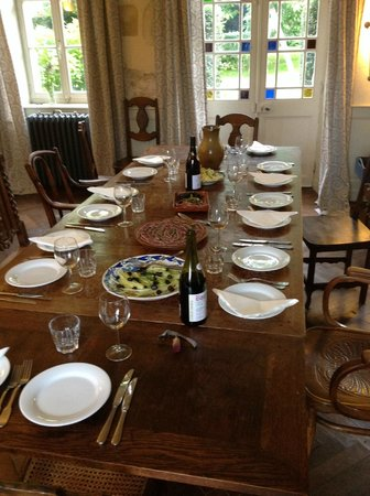 The Priory at Gouvix : Dinner service