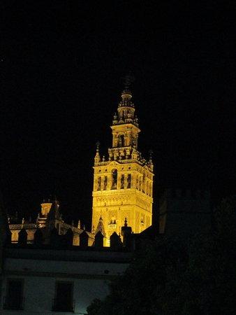 Torre Giralda : GIRALDA DI NOTTE VISTA DALL'ALCAZAR