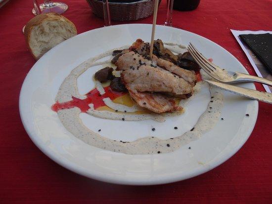 Agape: carne con setas